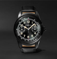 Montblanc - Summit 46mm PVD-Coated Stainless Steel and Leather Smart Watch