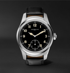 Montblanc - Summit 46mm Stainless Steel and Leather Smartwatch
