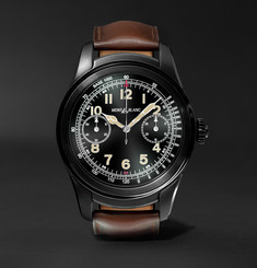 Montblanc Summit 46mm PVD-Coated Stainless Steel and Leather Smartwatch