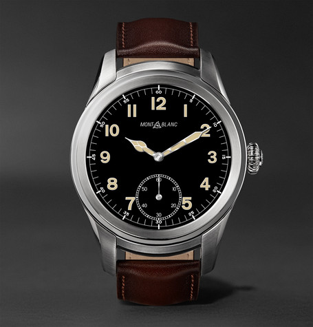 Summit 46mm Titanium And Leather Smartwatch - Brown