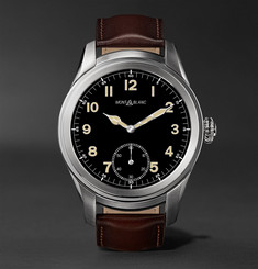 Montblanc - Summit 46mm Titanium and Leather Smart Watch