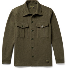 Neighborhood CPO Mélange Cotton-Felt Overshirt