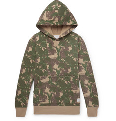 Neighborhood Camouflage-Print Fleece-Back Cotton-Jersey Hoodie
