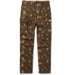 Neighborhood - Camouflage-Print Cotton-Twill Cargo Trousers