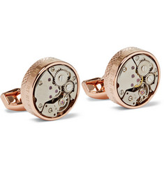TATEOSSIAN - Skeleton Rose Gold-Plated Cufflinks