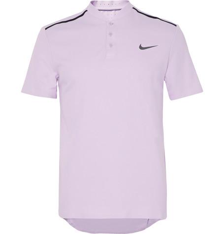 Nike Court Roger Federer Advantage Dri-fit Piqué Tennis Polo Shirt In Lilac
