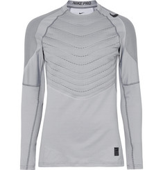 Nike Training Pro Hyperwarm AeroLoft Panelled Stretch-Jersey Top