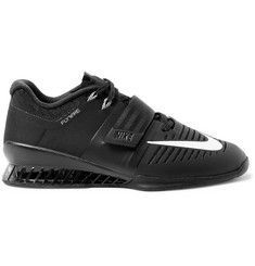 Nike Training - Romaleos 3 Faux Leather-Trimmed Mesh Sneakers