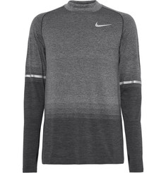 Nike Running Mélange Dri-FIT Mock-Neck T-Shirt