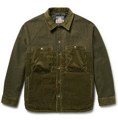 Blackmeans Mélange Felt and Cotton-Corduroy Jacket