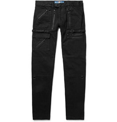 Blackmeans Skinny-Fit Zip-Detailed Denim Jeans