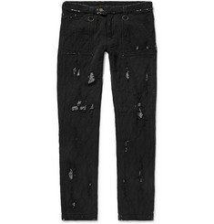 Blackmeans - Skinny-Fit Distressed Cotton Trousers