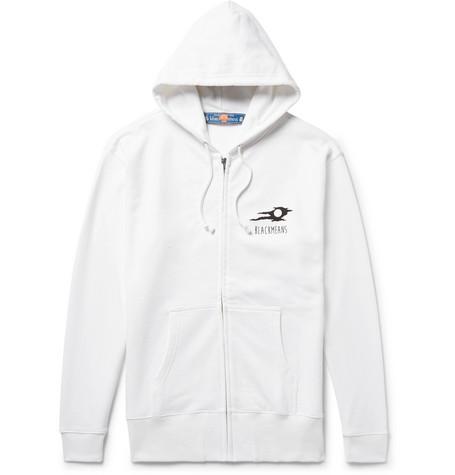 BLACKMEANS Printed Loopback Cotton-Jersey Zip-Up Hoodie