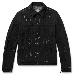 Blackmeans Slim-Fit Distressed Cotton Jacket