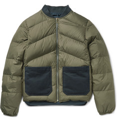 The Workers Club - Reversible Quilted Shell Down Bomber Jacket