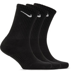 Nike - Three-Pack Cushioned Cotton-Blend Socks