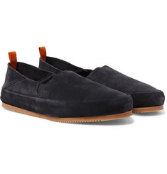 Mulo - Suede Collapsible-Heel Loafers