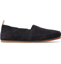 Mulo Suede Collapsible-Heel Loafers