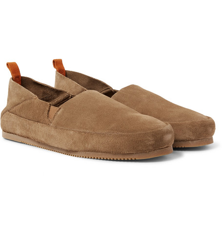 Collapsible-heel Suede Loafers - BrownMulo cI9Leu