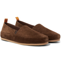 Mulo - Shearling-Lined Suede Slippers
