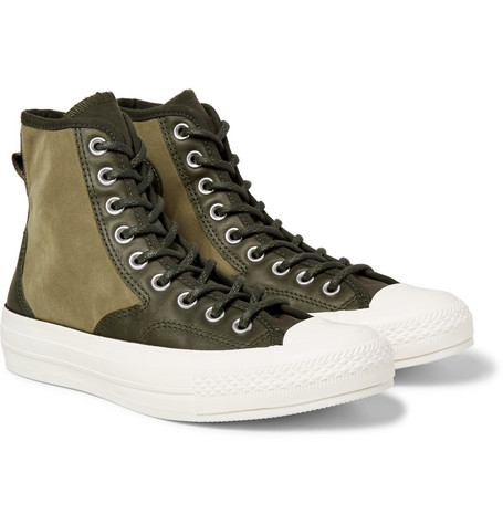 d5acc121361 Converse 1970S Chuck Taylor All Star Hiker Brushed-Canvas High-Top Sneakers  In Dark