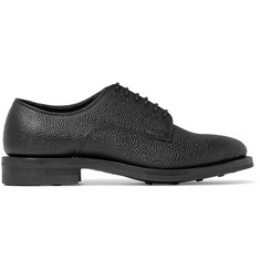 Viberg Pebble-Grain Leather Derby Shoes