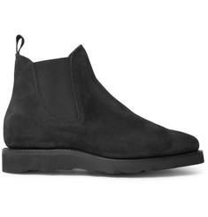 Viberg Washed-Suede Chelsea Boots