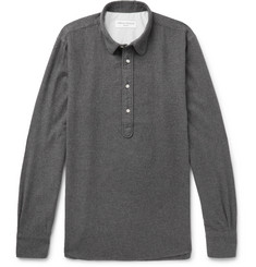 Officine Generale Ethan Penny-Collar Cotton-Flannel Shirt