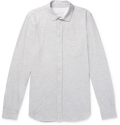 Officine Generale Lipp Mélange Cotton and Silk-Blend Jersey Shirt