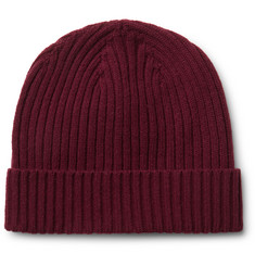 Officine Generale Ribbed Merino Wool Beanie