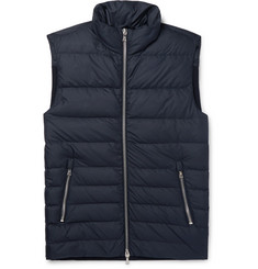 Officine Generale - Slim-Fit Shell and Ribbed Wool-Blend Down Vest