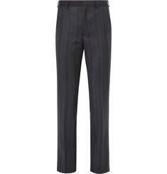 Noah - Slim-Fit Striped Wool-Twill Trousers