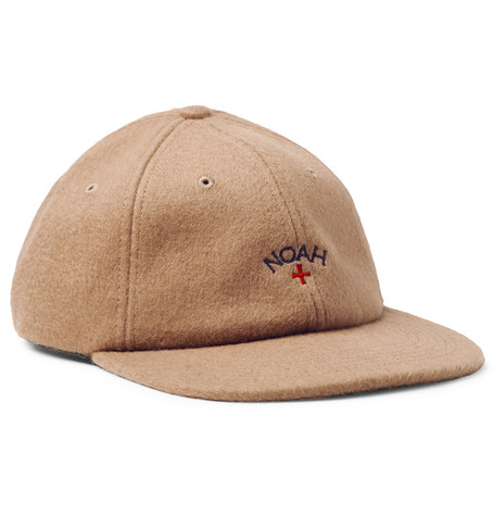 Embroidered Baby Camel Hair Baseball Cap - Sand