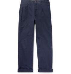 Noah - Pleated Cotton-Twill Chinos