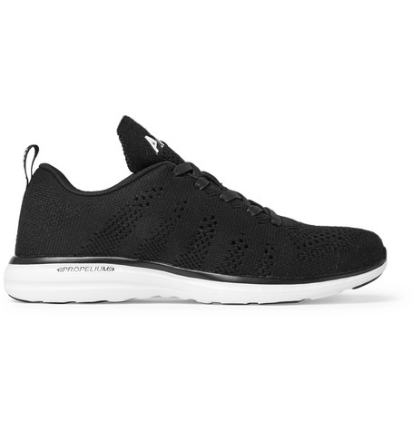 Apl Athletic Propulsion Labs Techloom Pro Cashmere-Blend Mesh Sneakers In Black