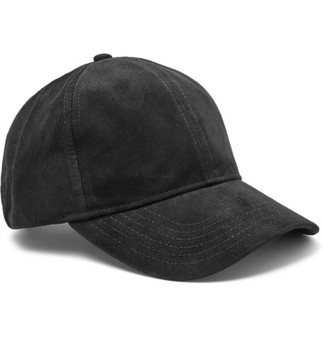 Cotton-corduroy Baseball Cap - Black