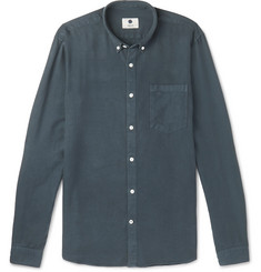 NN07 - Falk Slim-Fit Button-Down Collar Garment-Dyed Woven Shirt