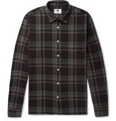 NN07 Basso Checked Cotton-Flannel Shirt
