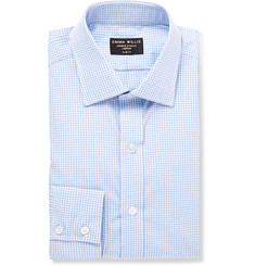 Emma Willis Blue Gingham Cotton-Poplin Shirt