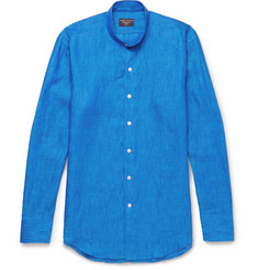 Emma Willis Slim-Fit Grandad-Collar Linen Shirt