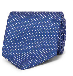 Emma Willis 9cm Polka-Dot Silk-Twill Tie