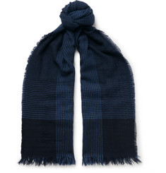 Emma Willis Prince of Wales Checked Cashmere Scarf