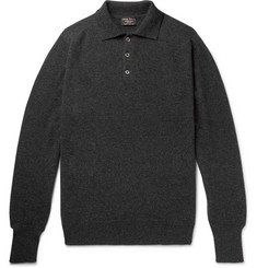 Emma Willis Mélange Cashmere Polo Shirt