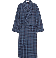 Emma Willis Checked Brushed-Cotton Twill Robe
