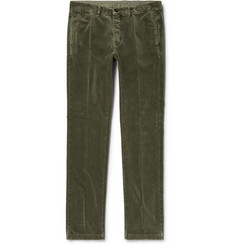 Massimo Alba - Winch Slim-Fit Cotton-Velvet Trousers