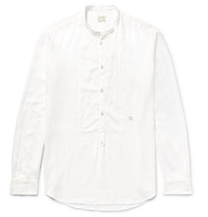 Massimo Alba Kos Grandad-Collar Modal and Cotton-Blend Shirt