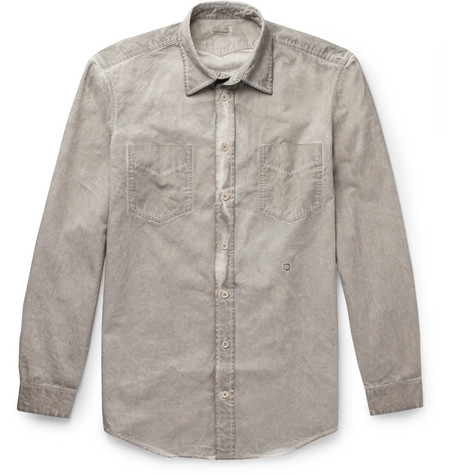 Sahara Watercolour-dyed Cotton-drill Shirt Massimo Alba Buy Cheap Eastbay Comfortable 1lluz0LZRA