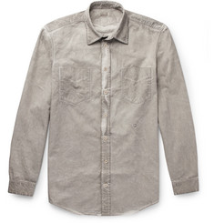 Massimo Alba Sahara Watercolour-Dyed Cotton-Drill Shirt