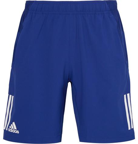 Adidas Originals Club Mesh-panelled Climacool Tennis Shorts In Royal Blue
