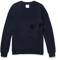 Wooyoungmi Embroidered Loopback Cotton-Jersey Sweatshirt